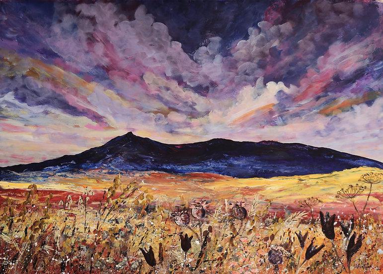 'Sunset over Bennachie' Anne Fenton
