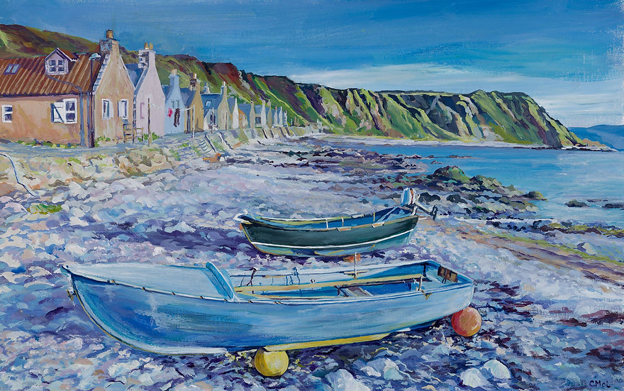 'Resting at Crovie' Christine McLennan