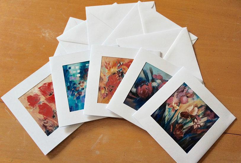 Floral Theme Cards   Myrtle Watt