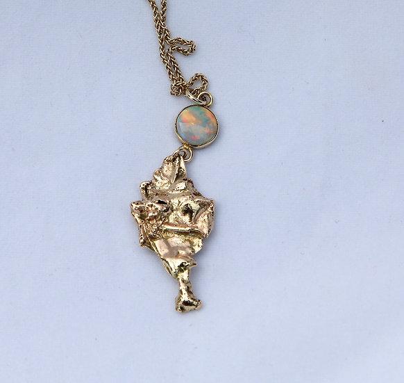 '9k Gold opal Necklace' Lorna Purvis