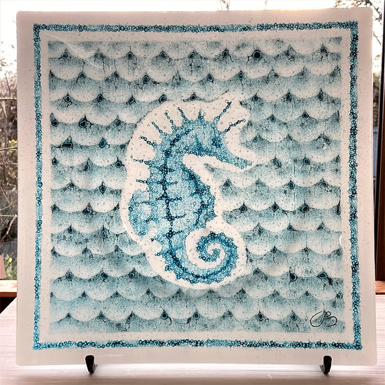 Seahorse Bubble Plate - Ashley Brammer