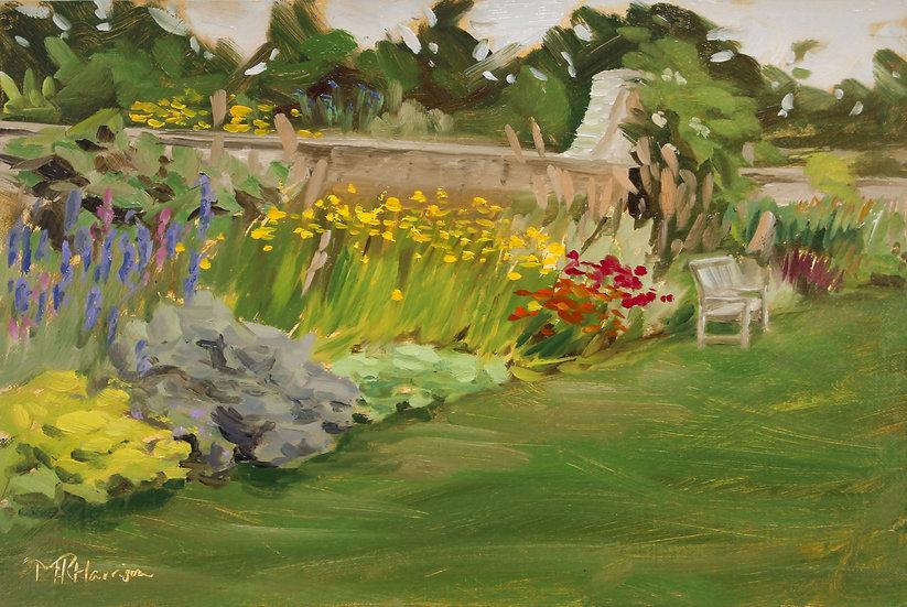 """""""Summer Flower Border, Castle Fraser"""" Melanie Harrison"""