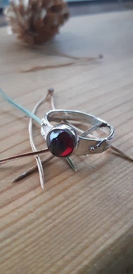 Garnet, silver ring - Lorna Purvis