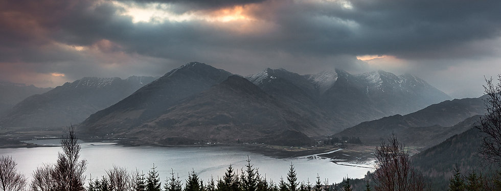 'Five Sisters and Loch Duich, Kintail' Jan Holm