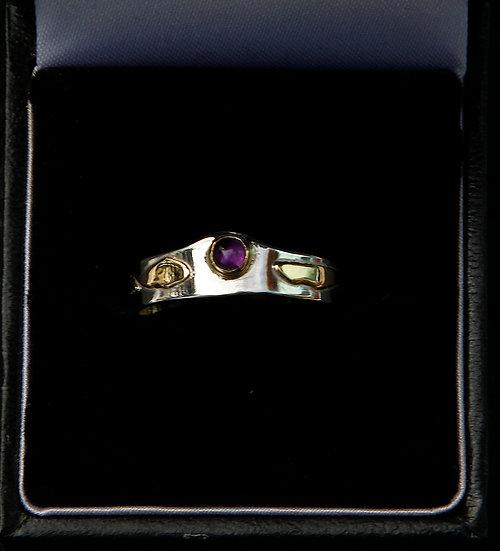 'Silver 18k gold amethyst Ring' Lorna Purvis