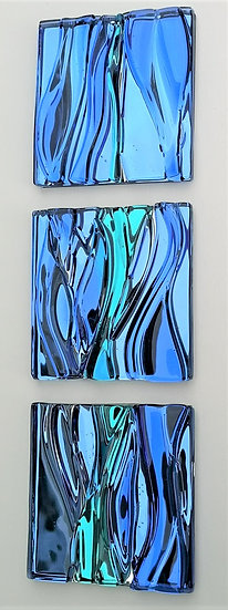 'Blue Sky and Waves Triptych' Jane Ronie