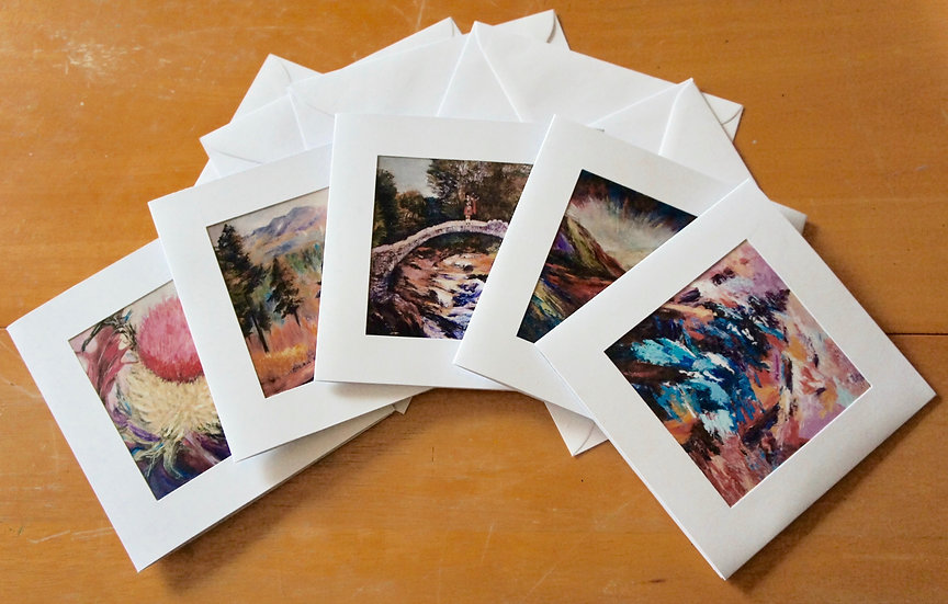 Scottish theme cards     Myrtle Watt