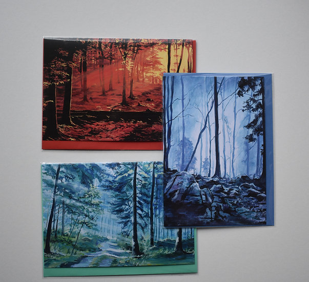 """Trees"" card set by Christine McLennan"
