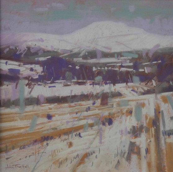 'Winter Stubble, Morven' John Threlfall