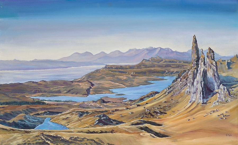 """Old Man of Storr in Ochre"" Christine McLennan"