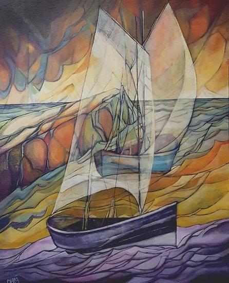 'Purple Boat' Mandy Henderson