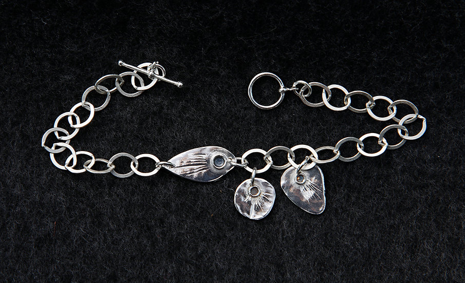 'Oxidised Silver Bracelet' Lorna Purvis
