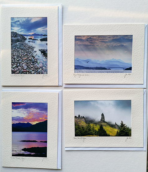 'Skye Cards Pack of  4' Jan Holm