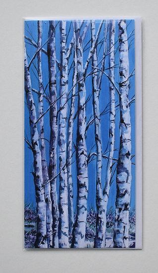 """Silver Birches"" card set by Christine McLennan"