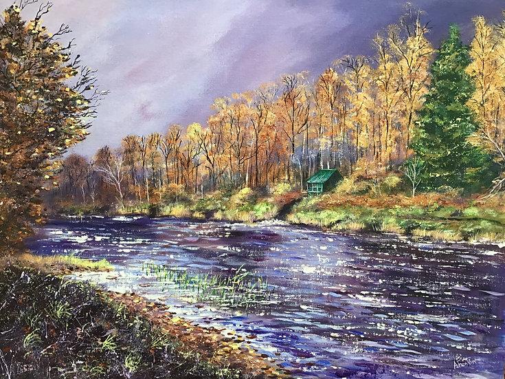 'River Deveron at Ardmiddle' - Anne Fenton