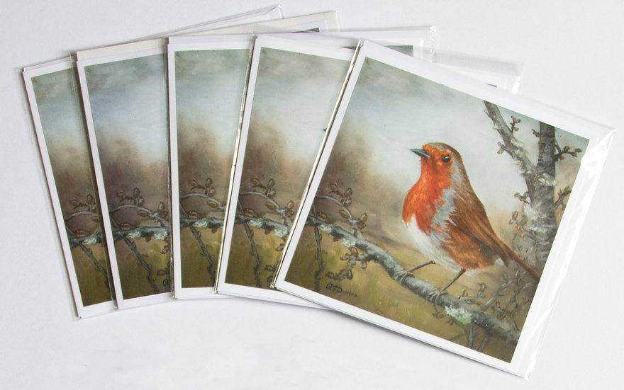 Robin Card Pack (x5) Quintin Davies