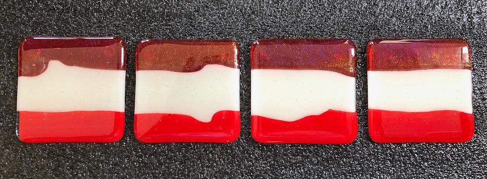 'Orange, Red & Vanilla Tiles V2' Michael Zappert