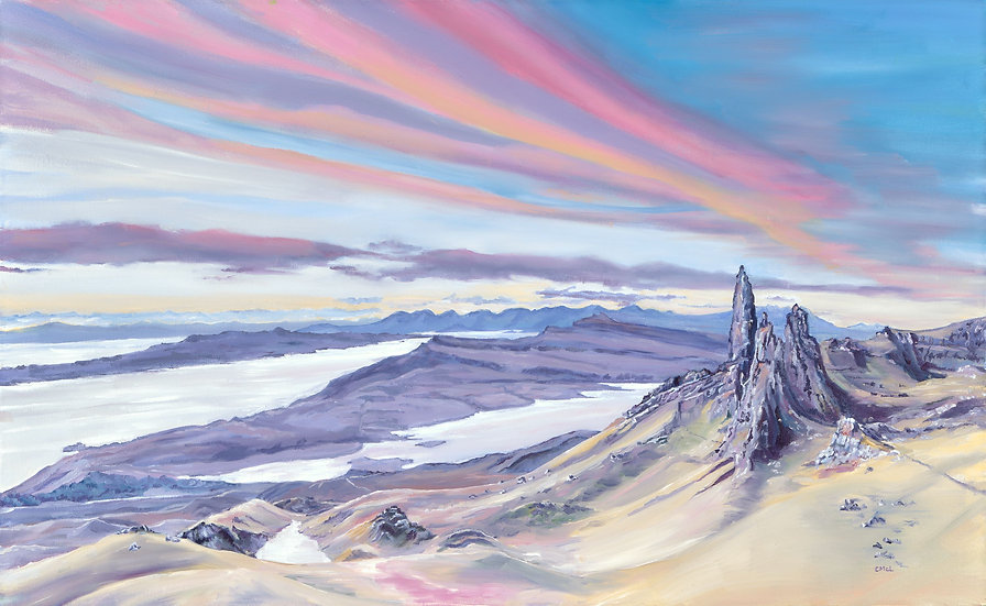 'Old Man of Storr in Pink' Christine McLennan