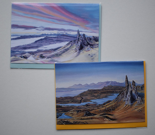 """Old Man of Storr"" card set by Christine McLennan"