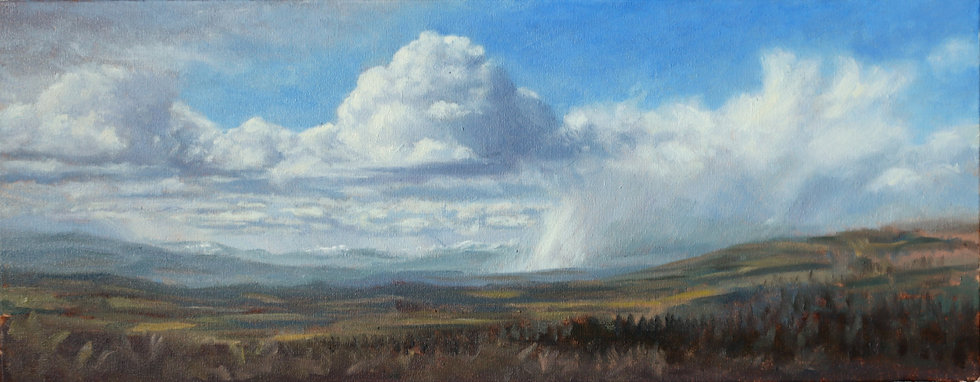 'Approaching Squall, Hill of Fare'  Quintin Davies
