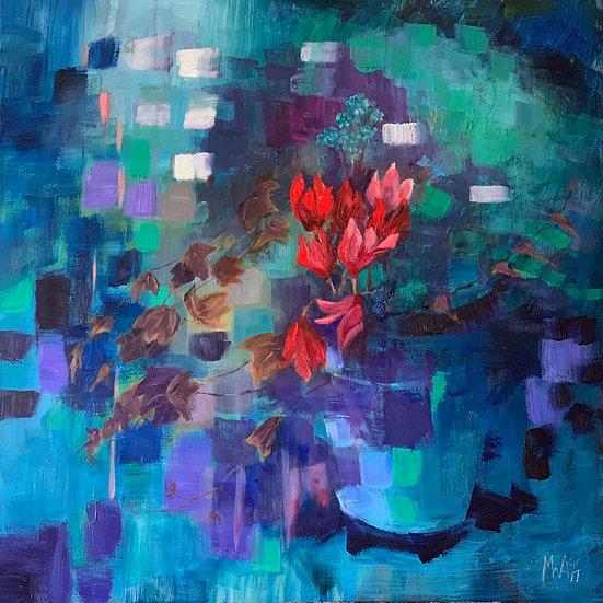 'Flower amongst abstraction'  Myrtle Watt