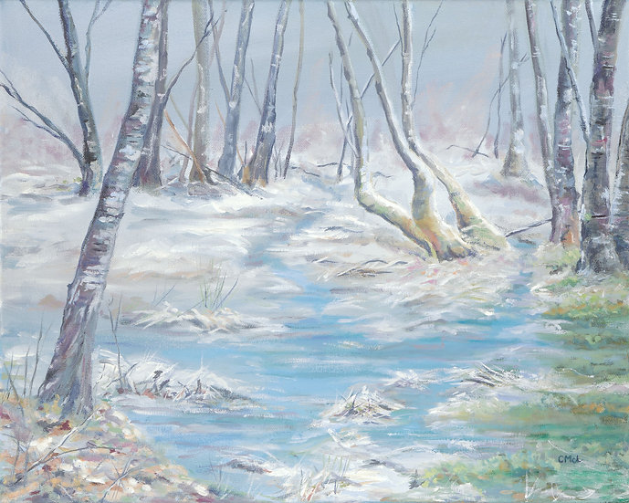 'Silver Birches in Winter' Christine McLennan