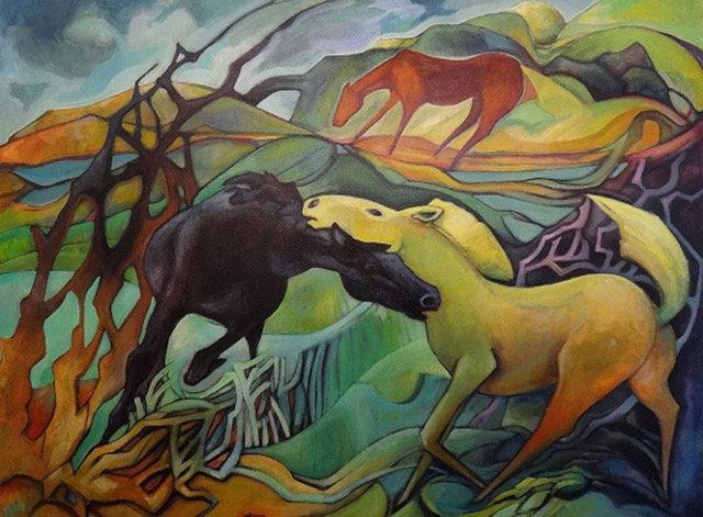 'Yellow Horse'  Mandy Henderson