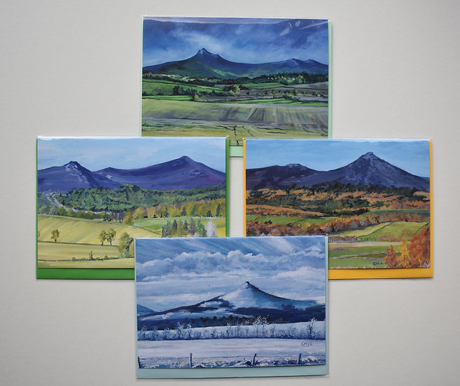 """Four Seasons on Bennachie"" card set by Christine McLennan"