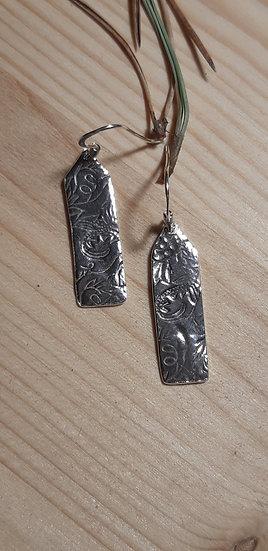 Impressed silver earrings - Lorna Purvis