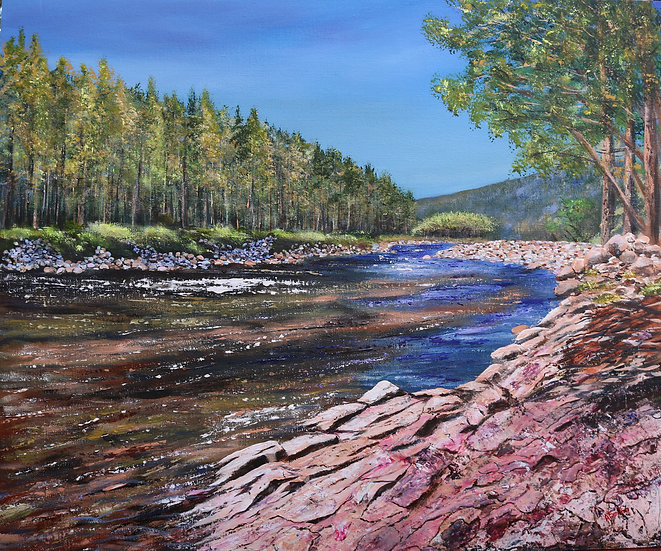 'Wright's Cast, Monaltrie - River Dee, Aberdeenshire' Anne Fenton