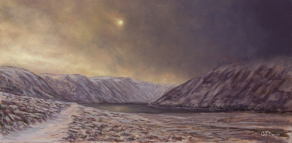 'After the Flurry, Loch Muick' Quintin Davies