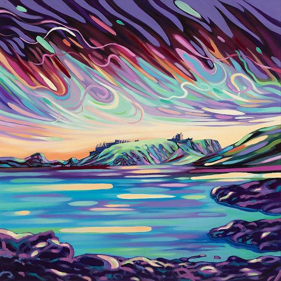 'Irridescent Skies over Dunnottar '  Ann Madden