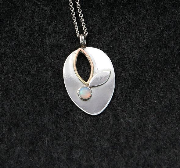 'Silver opal pendant'  Lorna Purvis