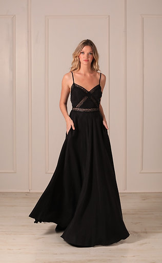 Lace maxi dress open back