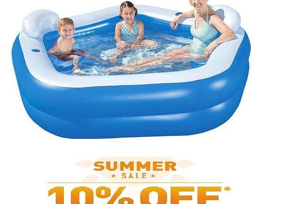 NEW Pool Bestway 54153 213 cm x 207 cm x 69 cm 575L
