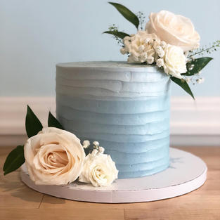 Rustic Blue Ombre with Florals