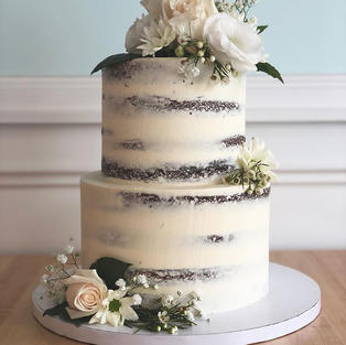 Classic White Floral Tiers