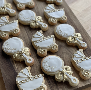 Gold Detailed Baby Shower Set