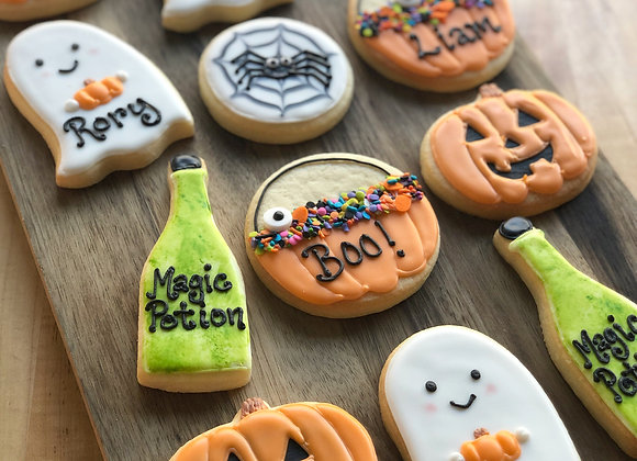 Class Set of Personalized Halloween Cookies