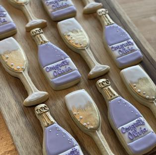 Purple Champagne Set