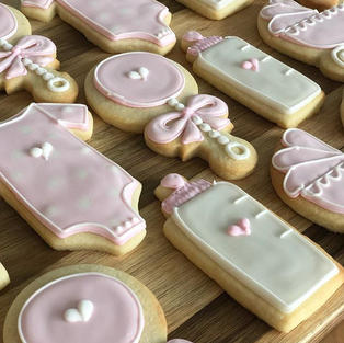 Pastel Pink Baby Shower Cookies