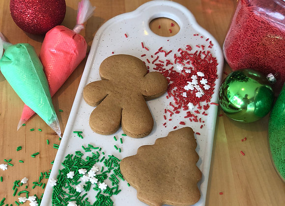 Mini Gingerbread Cookie Decorating Kit