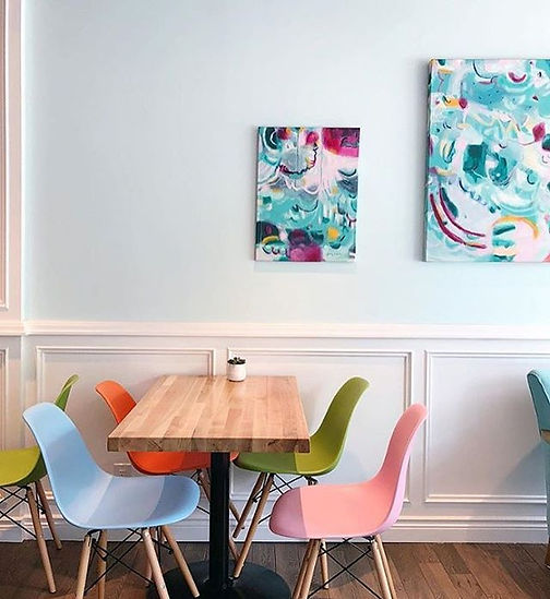 The Sweetest Thing Oakville Cakes paintings bakery interior