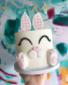 Sneaky peek at our Easter Bunny cake ava