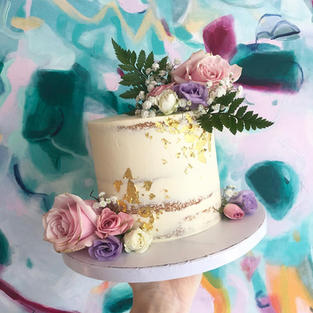 Pastel Perfection with Gold Leaf