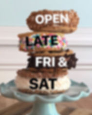 Open LATE Friday & Saturday - serving up