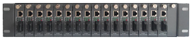 "19"" 2U Rack Chassis for Ethernet Transceiver Cards"