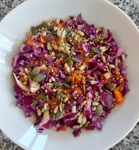 Spicy red cabbage coleslaw