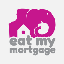 Eat my mortgage logo
