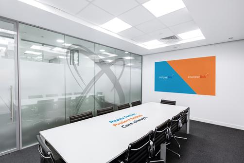 Office meeting room branding